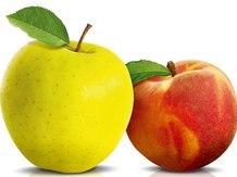 Персики и яблоки  Cuoreverde